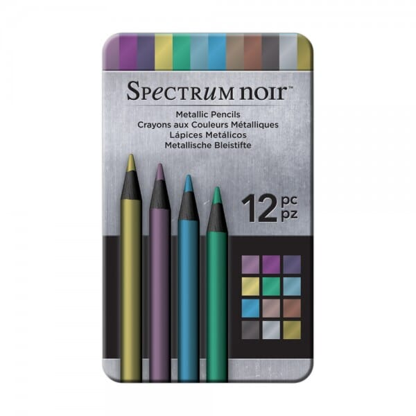 Spectrum Noir 12pk Pencils Set - Metallic