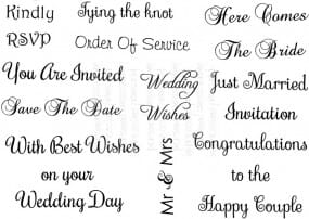 Art Stamps - SD Wedding Messages - Clear Stamp
