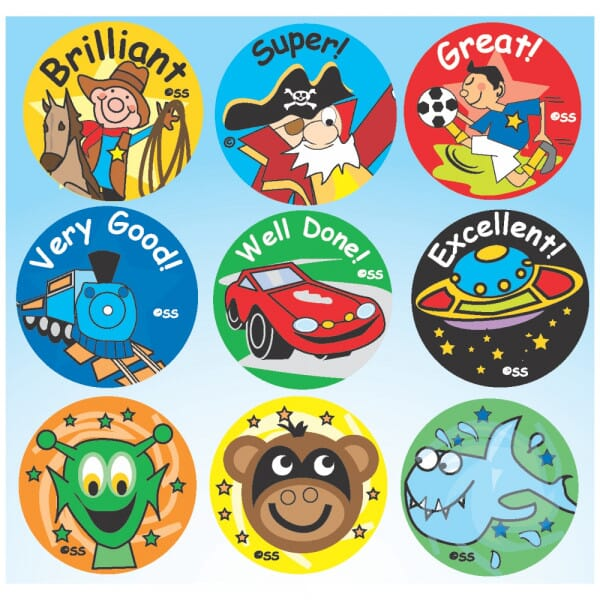 Cartoon images and phrases Sticker Pack A
