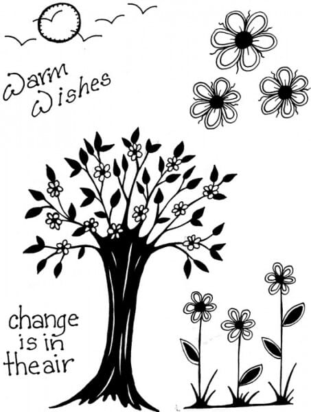 Lindsay Mason Designs - Change is in the Air Clear Stamp