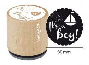 Woodies stamp It's a boy
