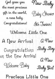 Art Stamps - SD New Baby Messages - Clear Stamp