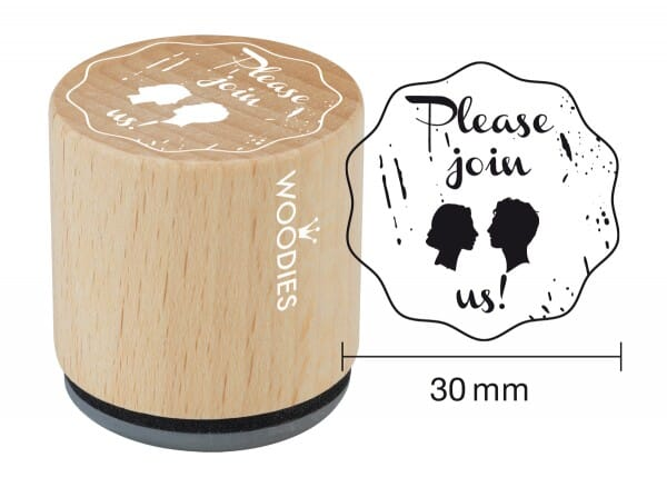 Woodies stamp Please join us!