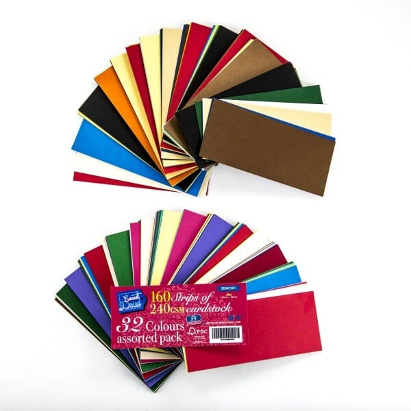 Sweet Dixie - Pack of 160 Card Stock Strips - Assorted Colours