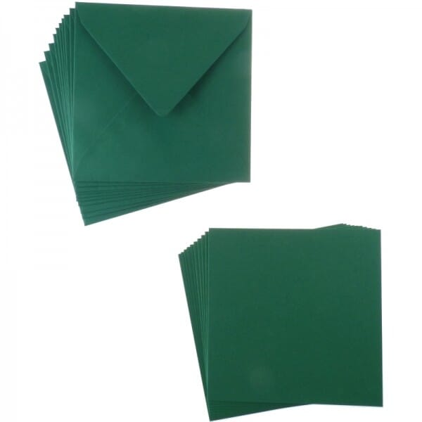 Sweet Dixie Dark Green Square Card and Envelope Packs (10)