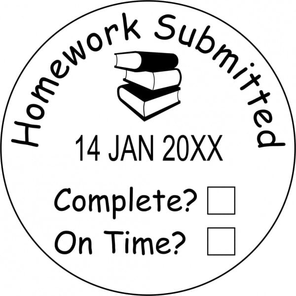 Teacher Marking Stamp – Homework With Date