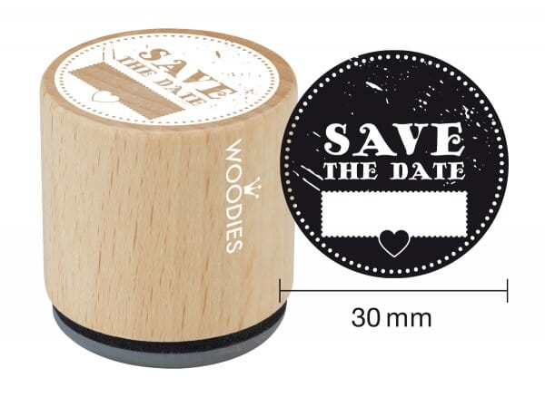Woodies stamp Save the date 2