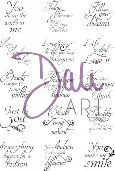 DaliArt - DaliART Clear Stamp 1 inch Circle/Square Sentiments