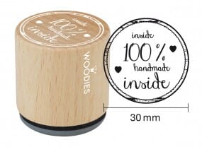 Woodies stamp Inside 100% handmade