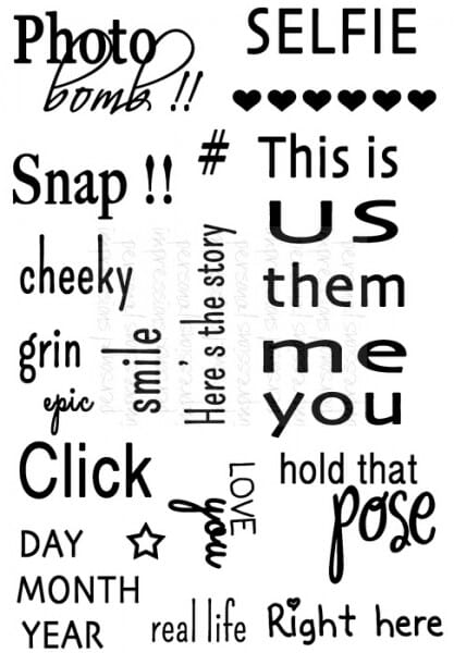 Sweet Dixie - MM Click Photo Sentiments - Clear Stamp