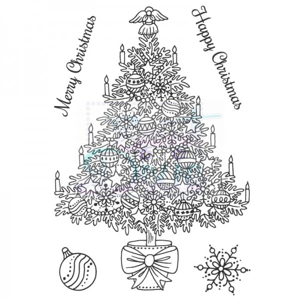 Sue Dix Designs - Traditional Christmas Tree Clear Stamp A6