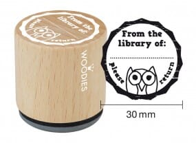 Woodies stamp From the library of: