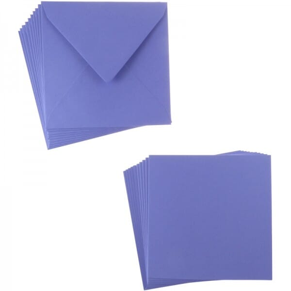 Sweet Dixie Purple Square Card and Envelope Packs (10)