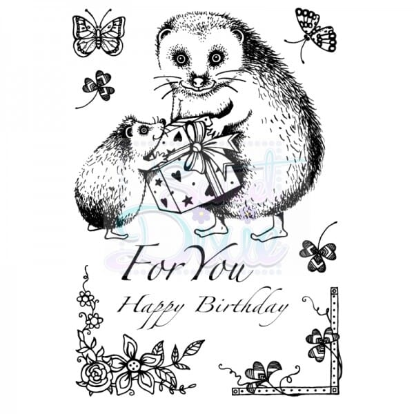 Cathie Shuttlworth Designs - Hedgehog For You Clear Stamp A6
