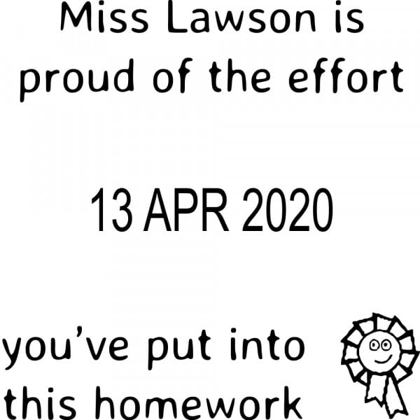 Personalised Teacher Marking Stamp – Effort With Date