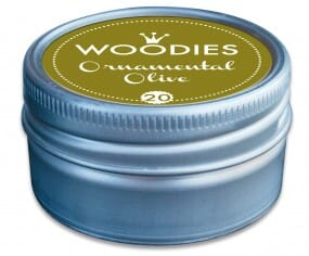 Woodies stamp pad Ornamental Olive