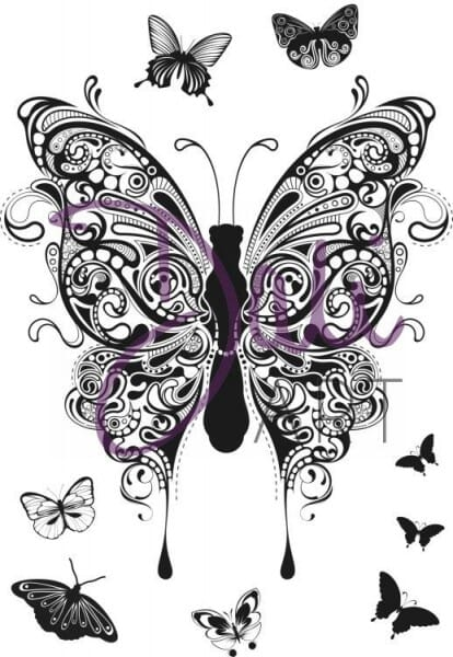 DaliArt - DaliART Clear Stamp Henna Butterflies