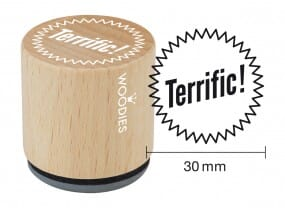 Woodies stamp Terrific!