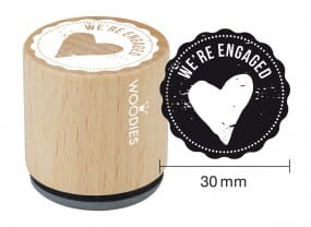Woodies stamp We're engaged