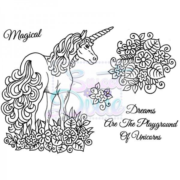 Sweet Dixie - Sweet Dixie Clear Stamp Unicorn A6