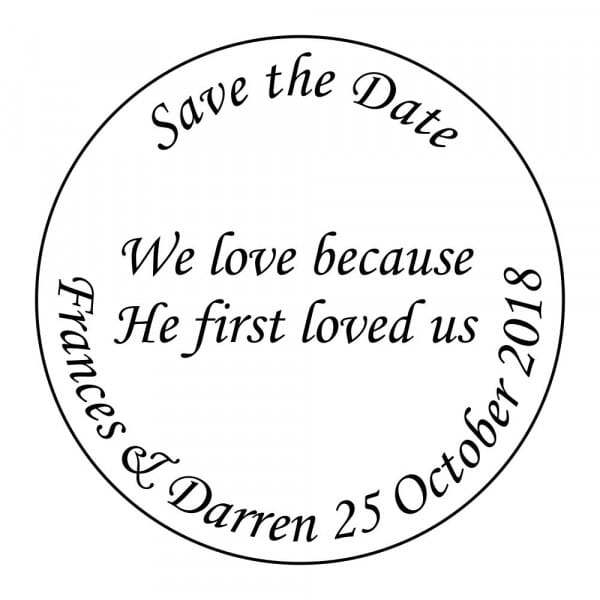 Customisable Save-the-Date Stamp