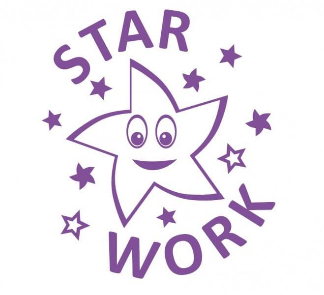 Trodat Printy 4922 - Star Work - violet