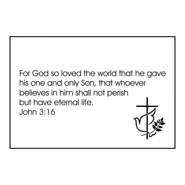 Craft Stamp - John 3:16