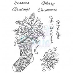 Sue Dix Designs - Christmas Stocking Clear Stamp A6