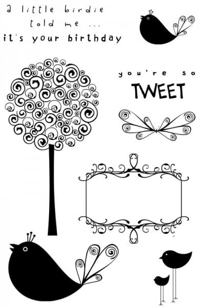 Sweet Dixie - Birds and the Trees Clear Stamp