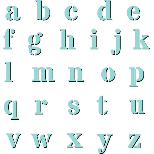 Exclusive Design For Sweet Dixie Alpha Lower Case stencil