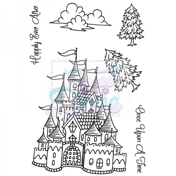 Sue Dix Designs - Fantasy Castle Clear Stamp size A6