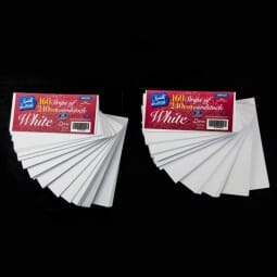 Sweet Dixie - Pack of 160 White Card Stock Strips