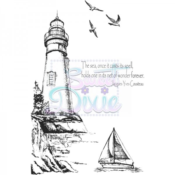 Kath Halstead Designs - Lighthouse Clear Stamp size A6