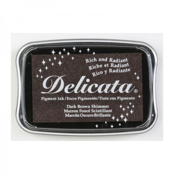 Tsukineko - Delicata Ink Pad Dark Brown Shimmer