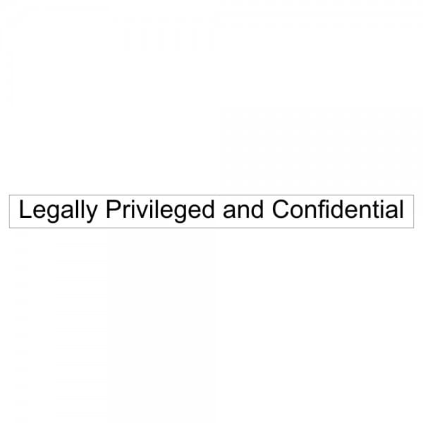 Legal Confidentiality Stamp