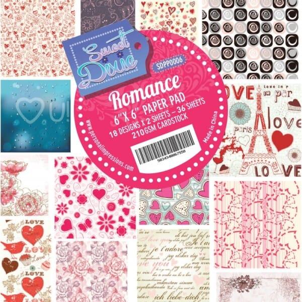 Sweet Dixie Romance Cardstock Pad