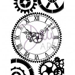 DaliArt - DaliART Clear Stamp Clock Face A6