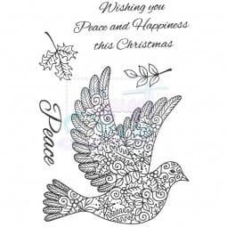Sue Dix Designs - Peace Dove Clear Stamp A6