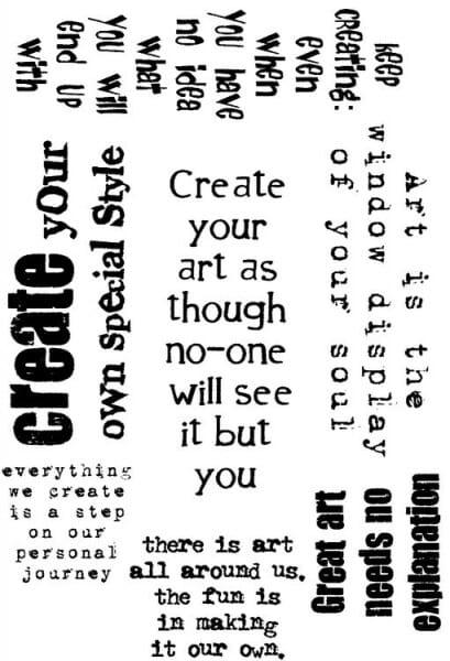 Lindsay Mason Designs - A6 Create - Clear Stamp