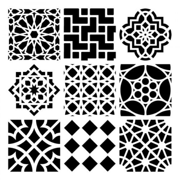 The Crafters Workshop - 6x6 Stencil Moroccan Tiles