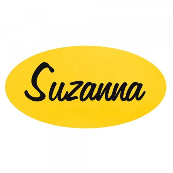 Engraved Name Badge – Oval