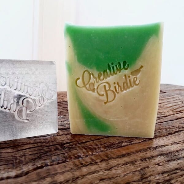 Small Rectangular Acrylic Clay and Soap Stamper - 40 x 20 mm