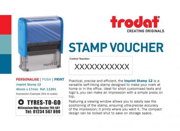 Imprint 12 Stamp Voucher