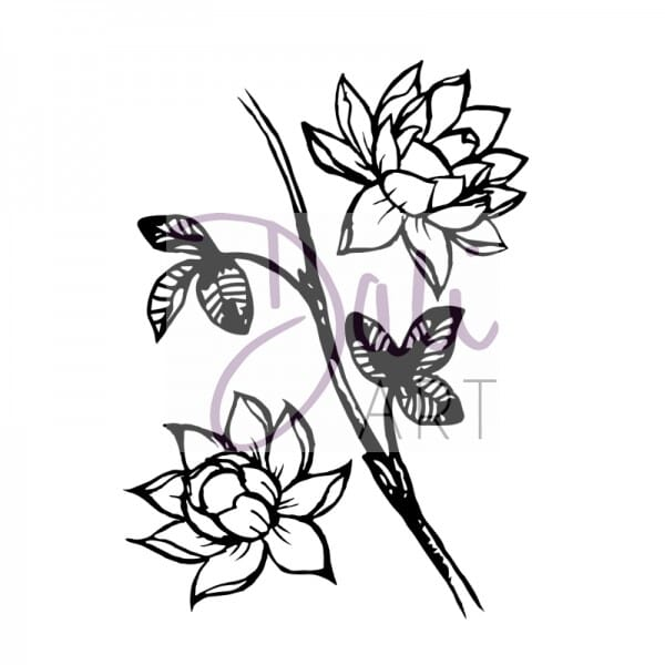 DaliArt - DaliART Clear Stamp Lotus Flowers A6