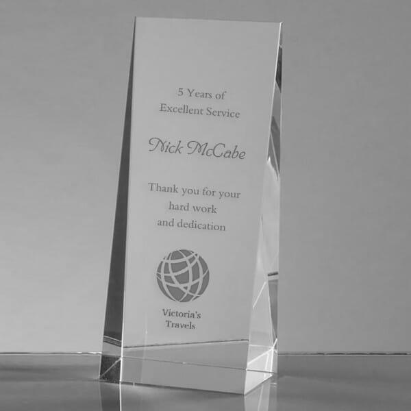Wedge Rectangle Award - Long Term Service