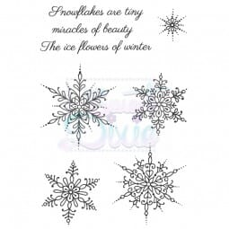 Sue Dix Designs - Small Snowflakes Clear Stamp A6
