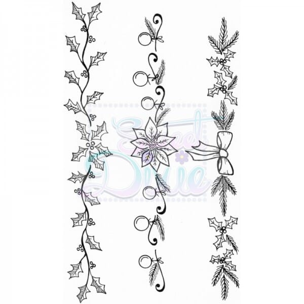 Lindsay Mason Designs - Christmas Swags Clear Stamp A6