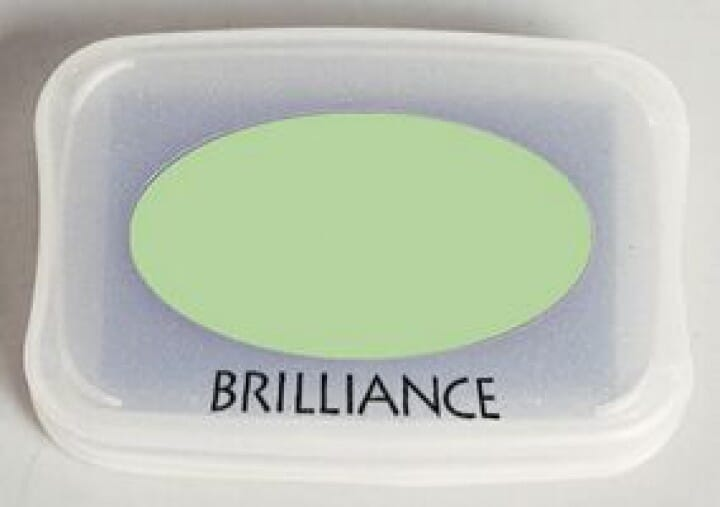 Tsukineko - Pearlescent Lime Brilliance Pad