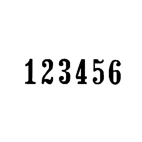 Trodat 5756-P Automatic Numberer - Plastic Frame 5.5 mm