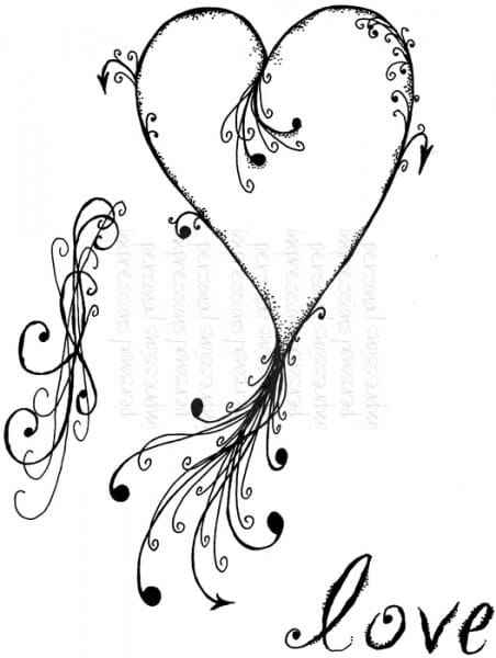Lindsay Mason Designs - Tattoo Heart - Clear Stamp